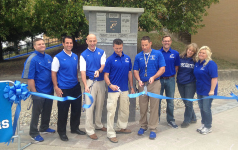 Athletic Booster's brick paver project adorns athletic entrance