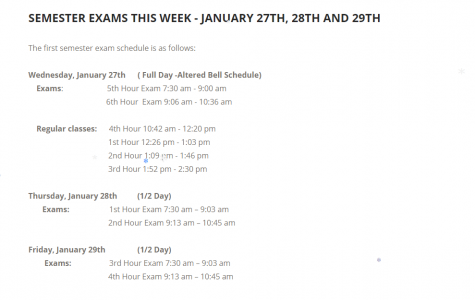 BRIEF: Junior Mark Landry speaks out about the exam week schedule