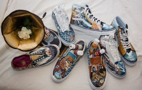 AP Studio Art team earns a top 50 spot in national shoe design contest