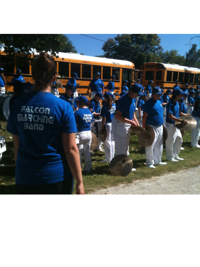 Marching band performs at Arts and Apples Festival