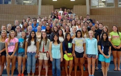 The 2014-15 mentors pose together at orientation in August.