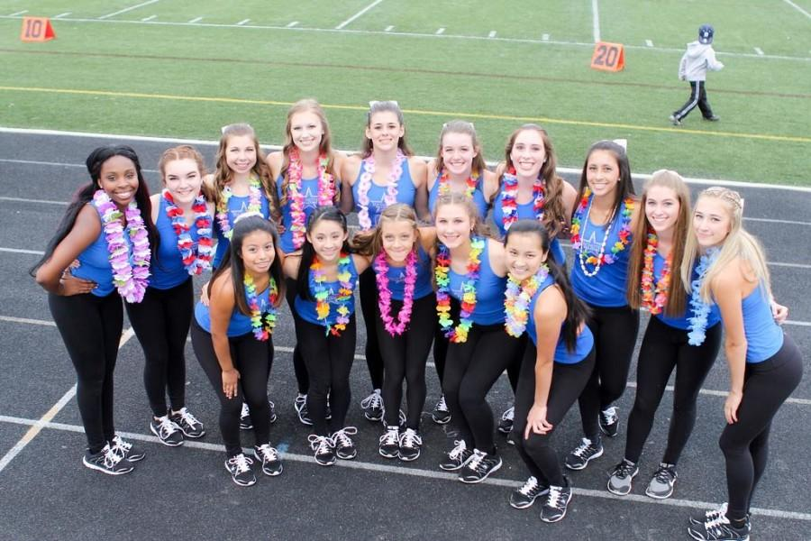 The dance team before the first Varsity Football Game of the year.