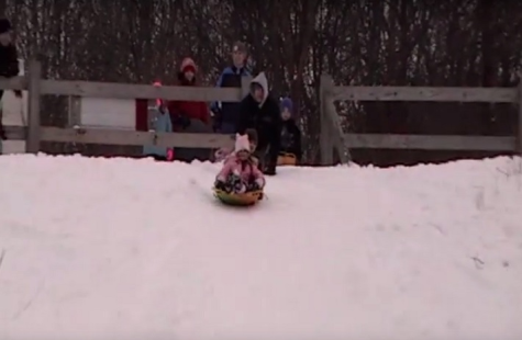 Children enjoy sledding at Bloomer Park. Photo Courtesy of www.oaklandcountymoms.com