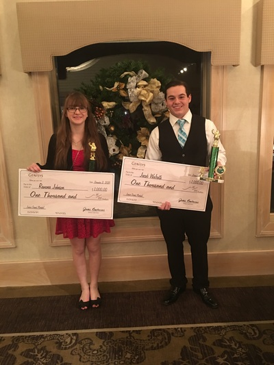 Junior Grand Marshals Ramona Johnson and Jacob Walrath were honored at the Sunrise Pinnacle Award Ceremony.