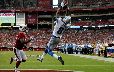 Calvin Johnson hauls in a  touchdown pass against the Arizona Cardinals.  Photo Courtesy of ESPN.