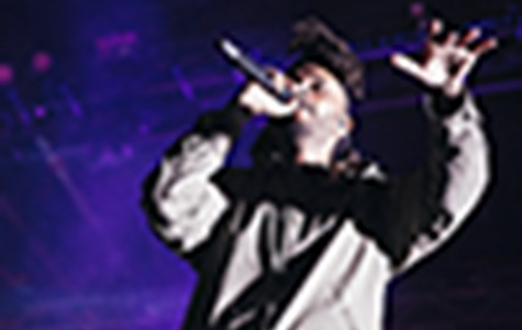 The Weeknd performing on stage