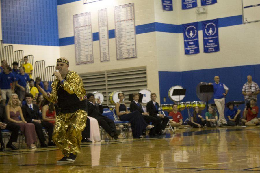 Mr. Byrd shows off dance/rap skills