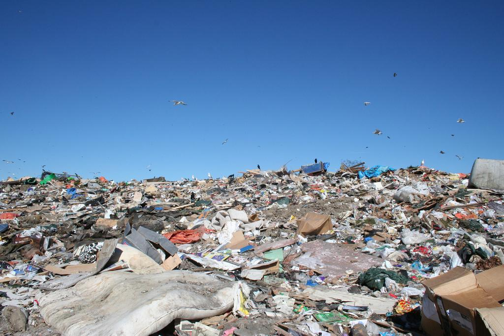 An enormous amount of plastic pollution litters the ground. Photo courtesy of Creative Commons