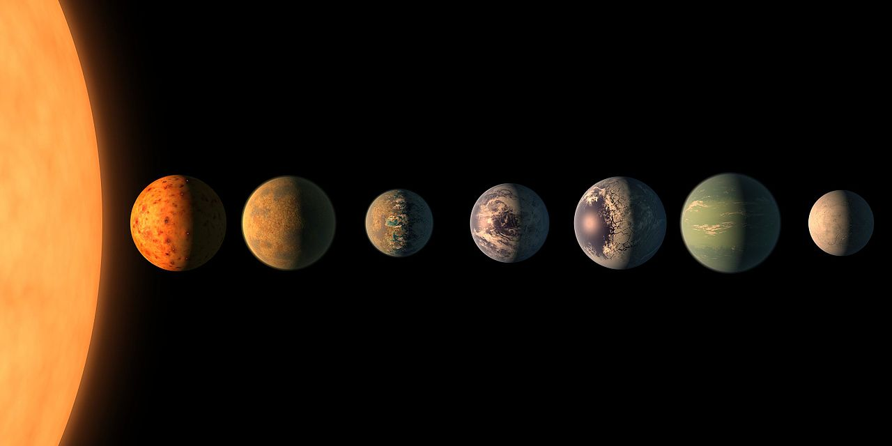 The TRAPPIST system of exoplanets marks the largest amount of planets found outside of our solar system in astronomical history.