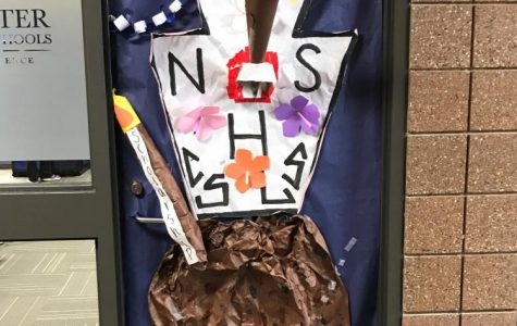 One of this year's decorated doors. Photo courtesy of Mrs. Facca.