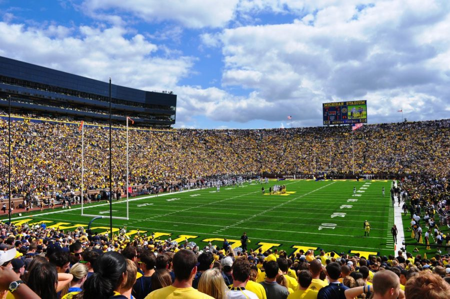 University+of+Michigan%27s+%22Big+House%22+Stadium+where+the+game+was+played.+Photo+courtesy+of+Creative+Commons.+