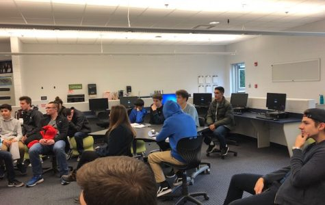 RHS students at Lakeland High School learning about the functions of Virtual Enterprise International. Photo courtesy of Mrs. Malsbuy.