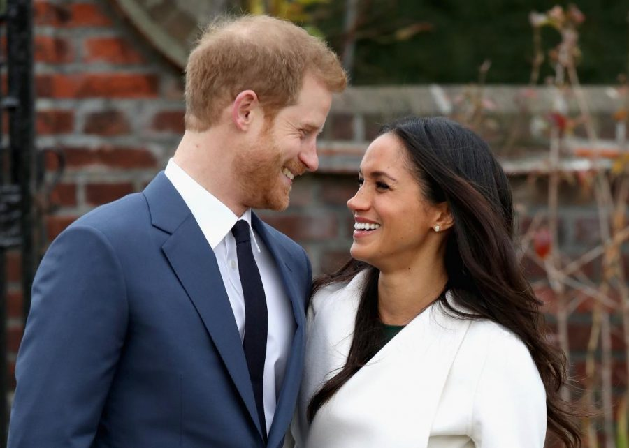 Prince Harry smiles with his fiance, American actress Meghan Markle. Photo courtesy of Creative Commons.