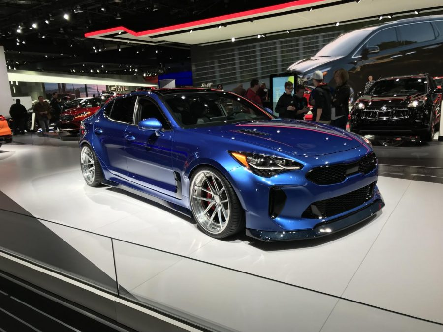 Custom wide-body Kia Stinger by West Coast Customs