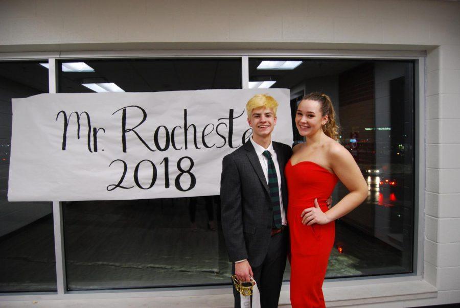 Mr. Rochester winner Matt Moffitt with his escort, Alyssa Miller.
