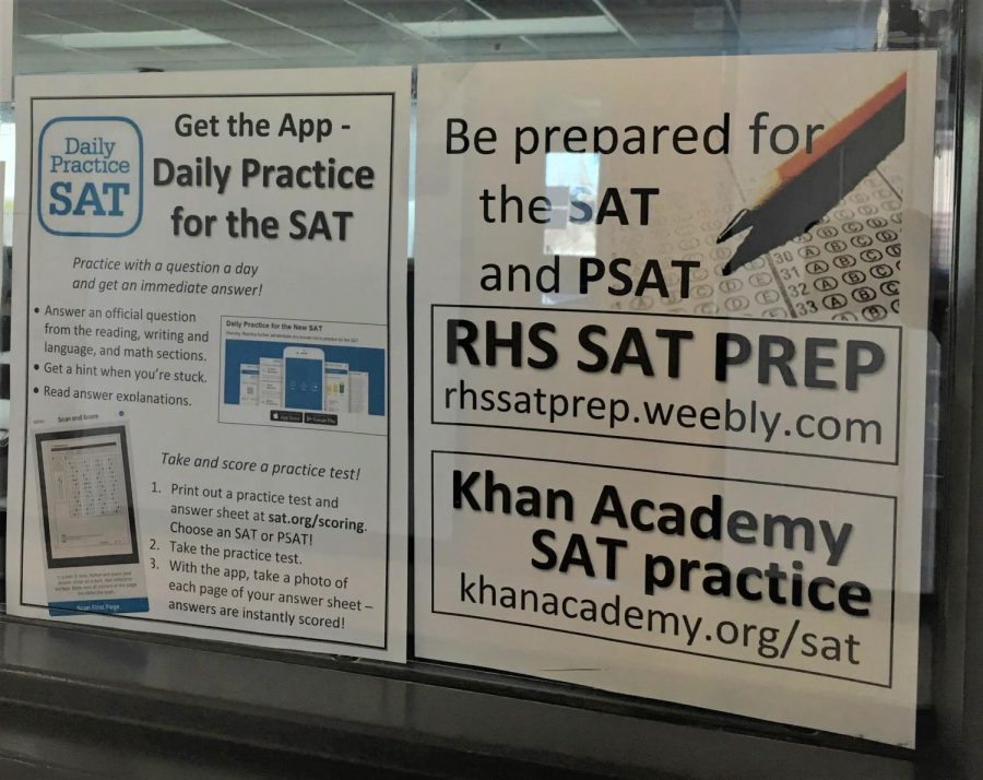 Signs+for+SAT+prep+opportunities+are+displayed+in+many+classrooms+as+teachers+and+students+gear+up+for+the+SAT+in+April.+Photo+by+Amna+Abbas.+