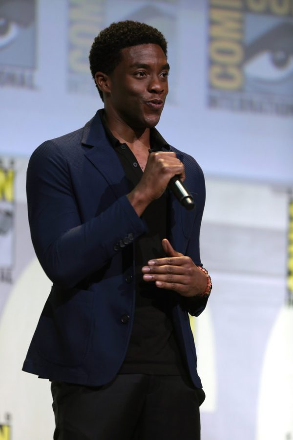 Chadwick Boseman (TChalla/ Black Panther) speaks at Comic Con