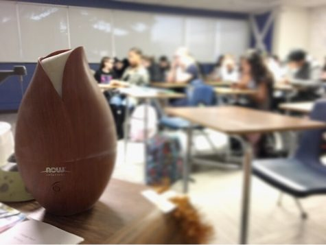A diffuser is used in a classroom while students work.  Photo by Holly McDonald