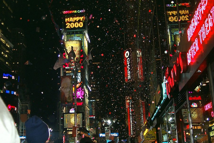 Times Square in New York City on Jan. 1 of 2000. Photo courtesy of Creative Commons.