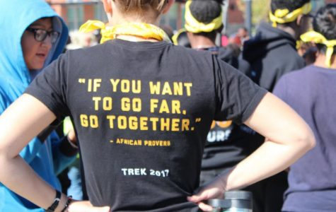 The back of a volunteer shirt at the Million Shoe March in October of 2017. Photo courtesy of the PTSA.