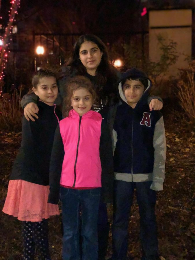 Banagsh hangs out with her younger cousins on a cold day in winter of 2017. Photo courtesy of Zoya Bangash.