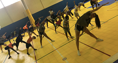 The RVDT is teaching children at the Boys and Girls Club a few dance moves. Photo courtesy of the RVDT website.
