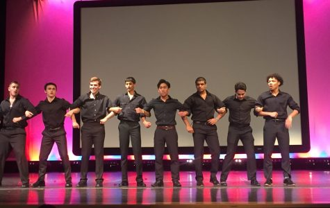 The Mr. Rochester contestants take the stage on Feb. 14, 2019. Photo by Pooja Patel.