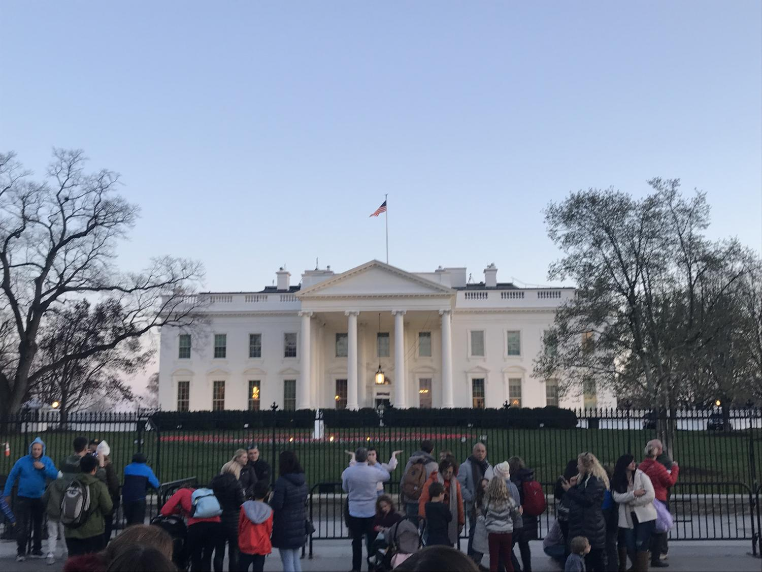 The White House in Washington D.C.   Photo courtesy of Sanya Gupta.