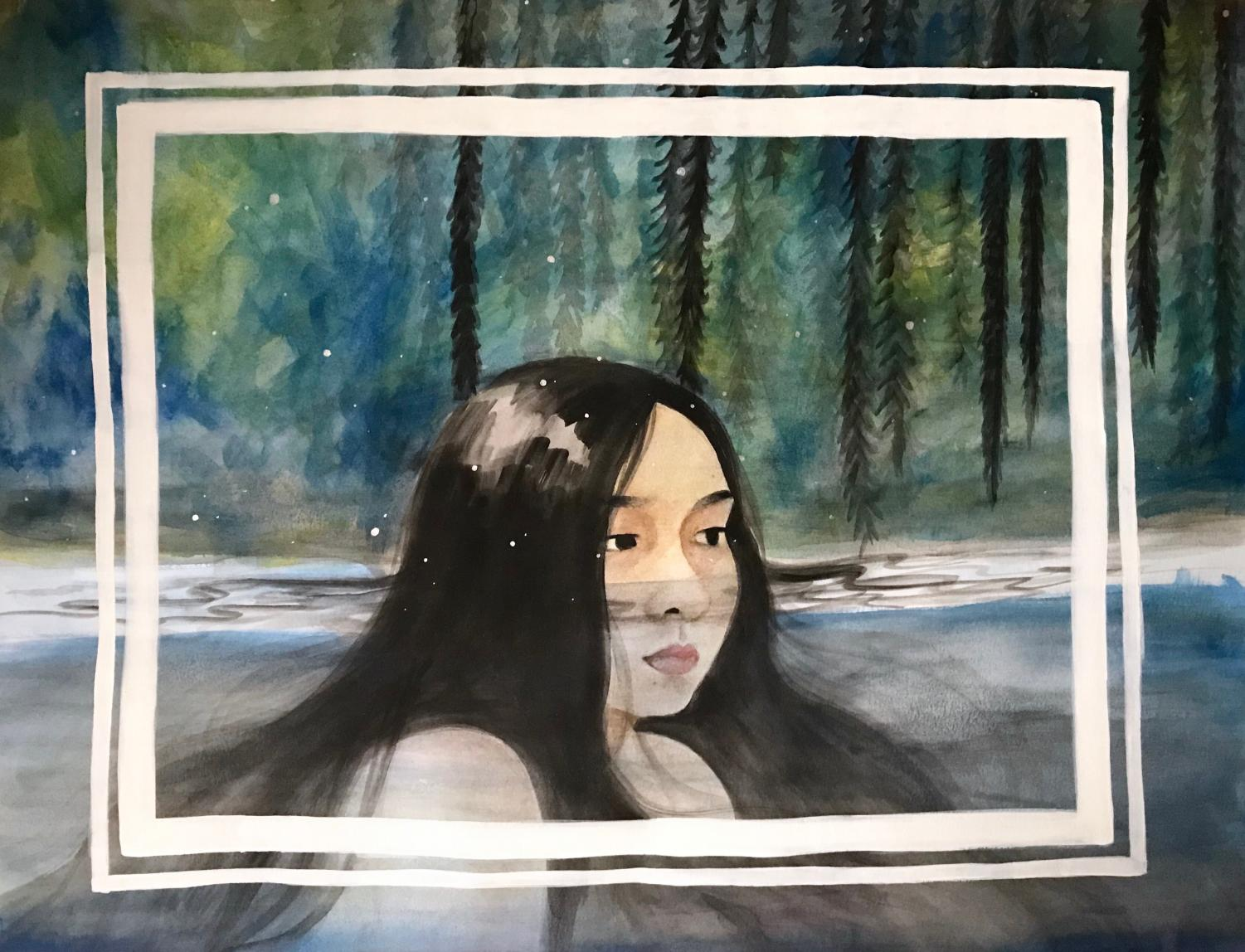 A self-portrait painted by Micaela Espedido. Photo courtesy of Micaela Espedido.
