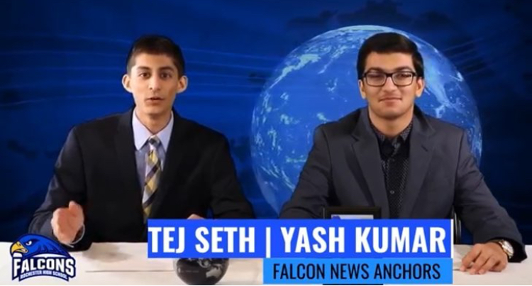 The News Broadcast video seniors Tej Seth and Yash Kumar made in their senior year.