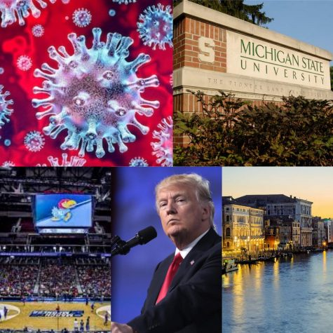 How COVID-19 is affecting the state of Michigan, international flights, large nationwide events, and President Trump