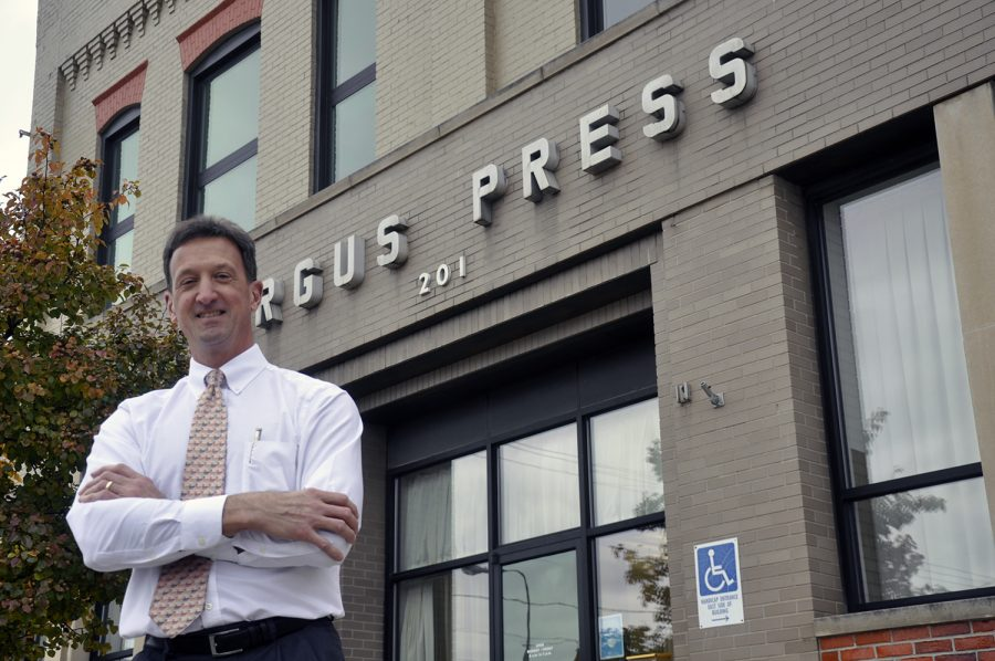 Mr. Tom Campbell, owner of the Argus-Press.  Photo courtesy of Tom Campbell